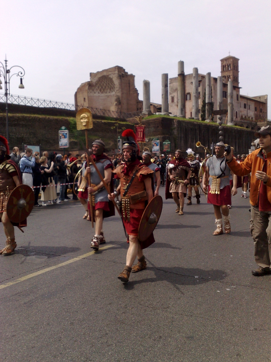 Gladiator in Rom_Prozession