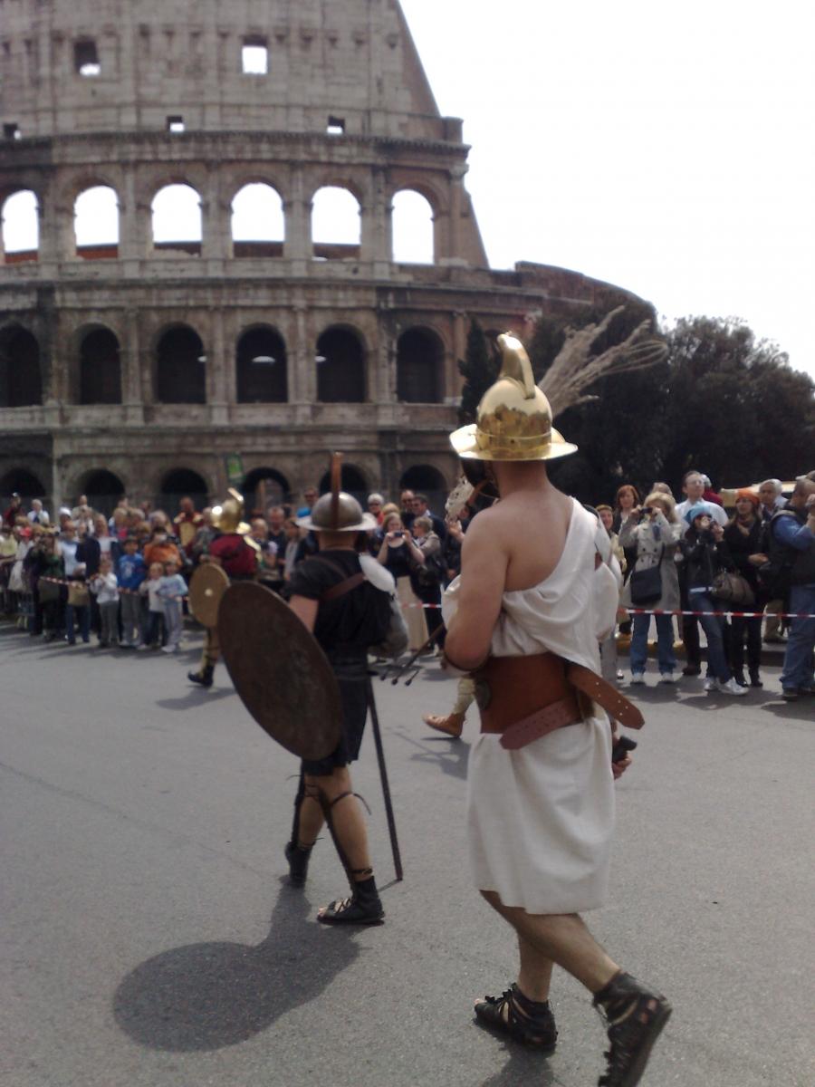 Gladiatoren in Rom_Prozession